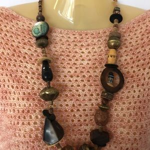 Jewelry - Chunky Large Wooden Bead Necklace Long 20%offBUNDL